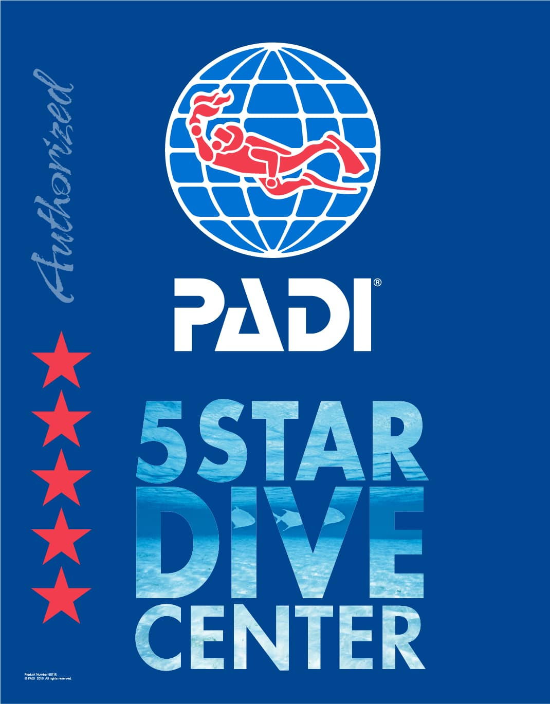 PADI 5 star dive centre accreditation logo